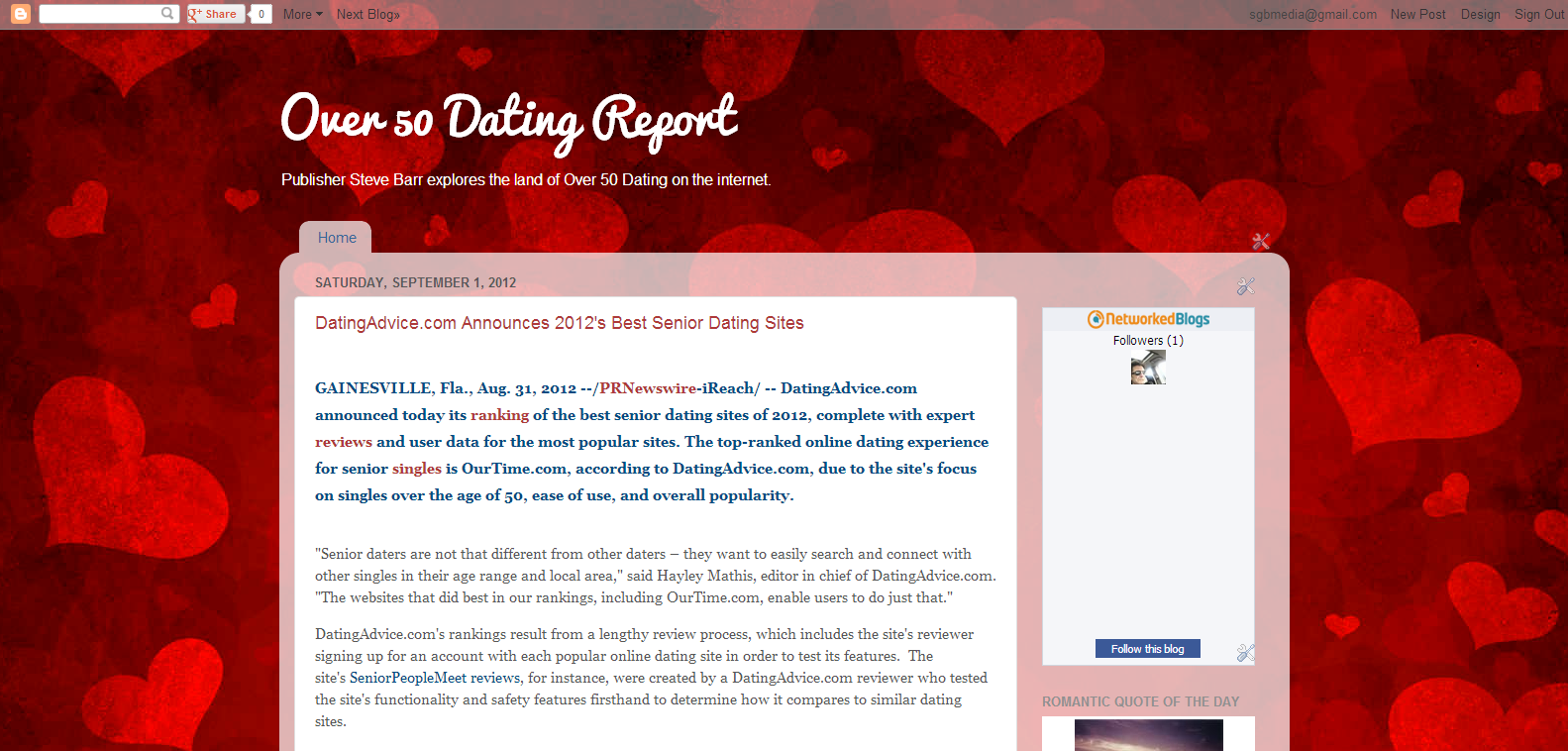 Dating report
