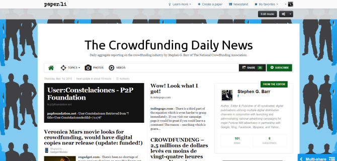 The Crowdfunding Daily News