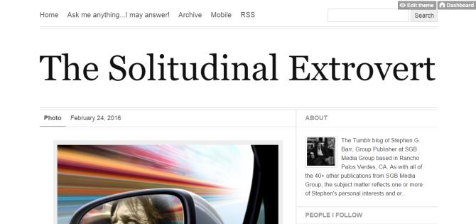The Solitudinal Extrovert
