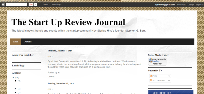 The Start Up Review Journal