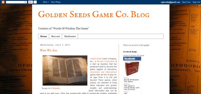 Golden Seeds Game Co. Blog