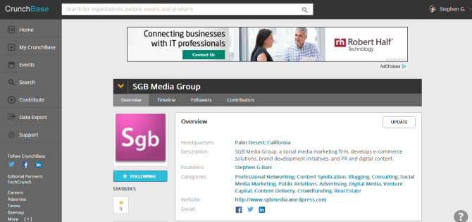 SGB Media Group   CrunchBase