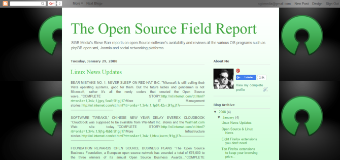 The Open Source Field Report
