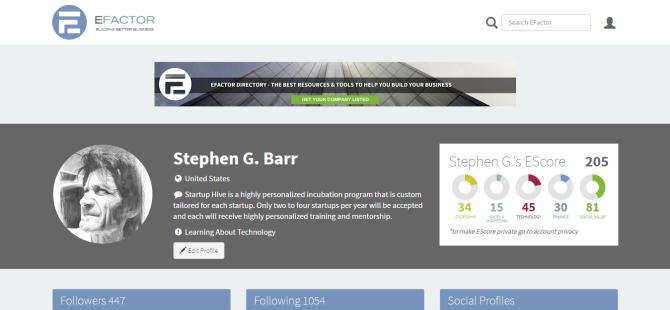 Stephen G. Barr   Entrepreneur   Business Networking   EFactor