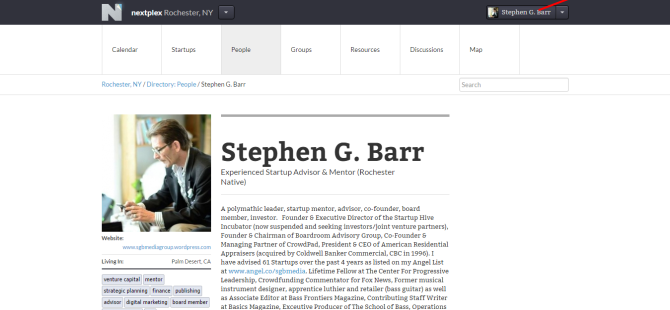 Stephen G. Barr   NextPlex   Rochester  NY