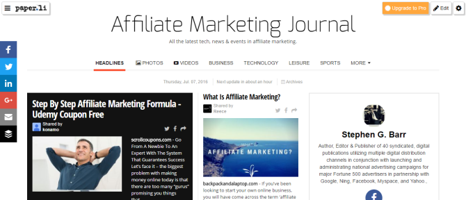 Affiliate Marketing Journal