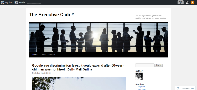 The Executive Club™   For the experienced  professional seeking mid late career opportunities.