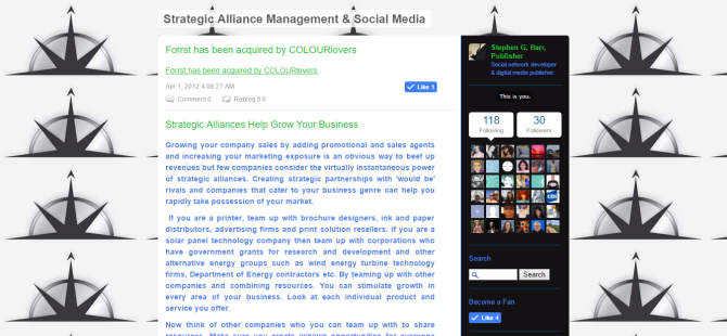 Strategic Alliance Management   Social Media