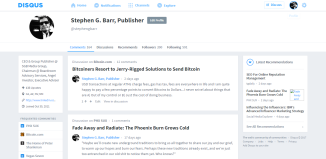 Stephen G. Barr Publisher · Profile · Disqus