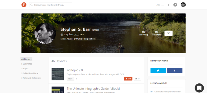 Stephen G. Barr s profile on Product Hunt