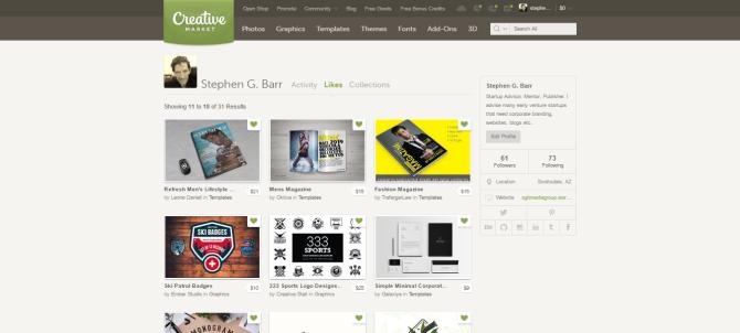 Stephen G. Barr stephen.barr Likes Creative Market