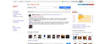 Your Exposé at Yasni.com Stephen G. Barr Palm Desert CA Startup Hive 58 VIP Rank 210