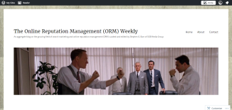 The Online Reputation Management  ORM  Weekly – An aggregate blog on the growing field of search marketing and online reputation management  ORM  curated and edited by Stephen G. Barr of SGB Media Group.png